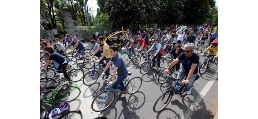 Milano e la manifestazione della Rete Mobilità Nuova