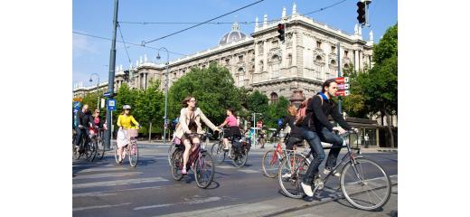 In bicicletta a Vienna