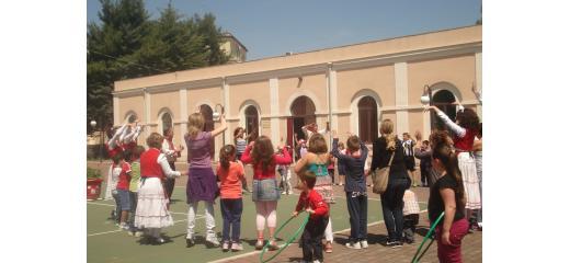 il cortile di una scuola