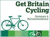 La copertina del report Get Britain Cycling