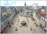 il centro di Aberdeen